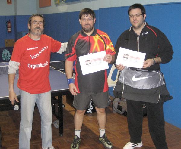 Guanyadors 1*: Santi Carol i J. M. Fuentes, amb Xavier Marxuach