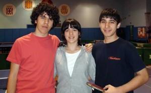 Llinars: Gerard, Irene i Cristian.