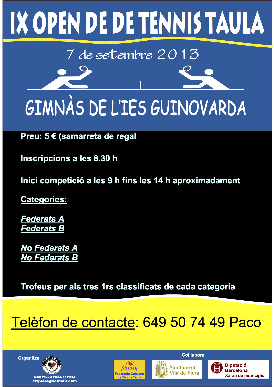 IX Open de Tennis Taula CTT Piera