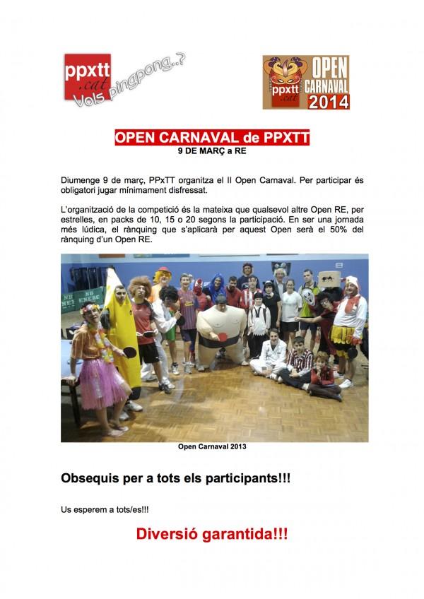 Open Carnaval 2014