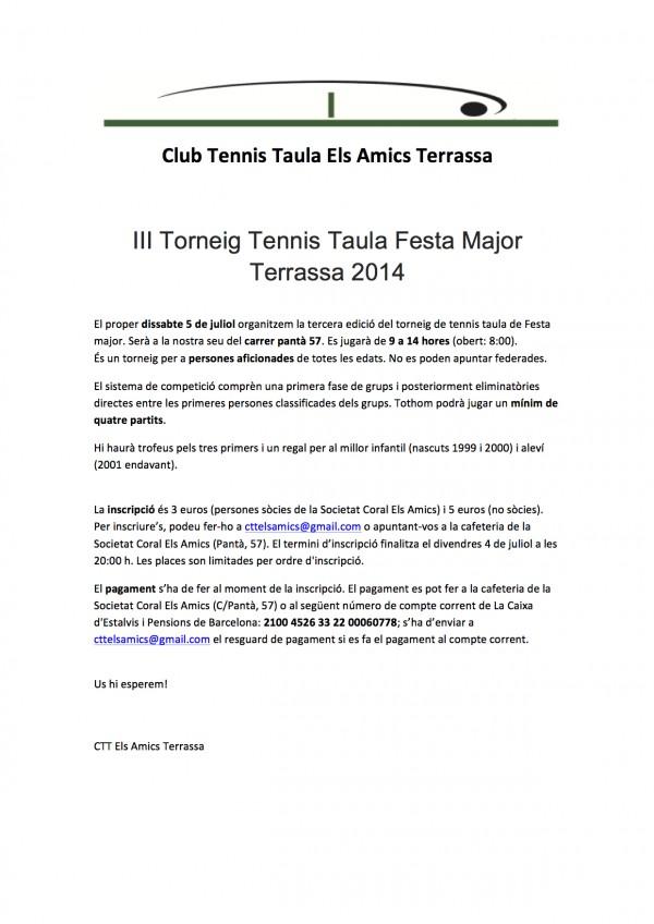 torneig tennis taula festa major terrassa 2014