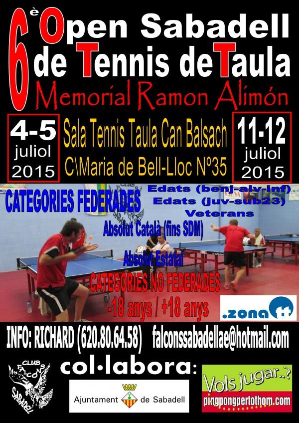 Cartell Open Sabadell PPxTT