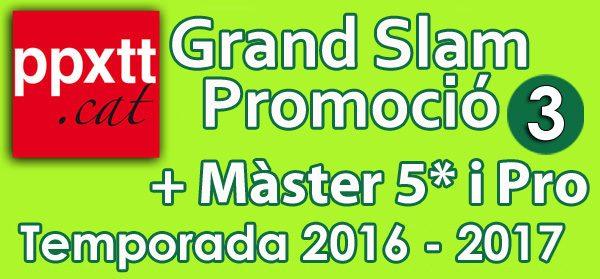 Ranquing válid per al 3er Grand Slam + Master 5***** i Pro,  i Ratio per a la permanencia.
