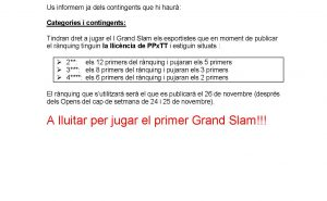 Grand Slam 18-19noticia