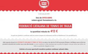 Agraïment donació_Federació_catalana_tennis_taula